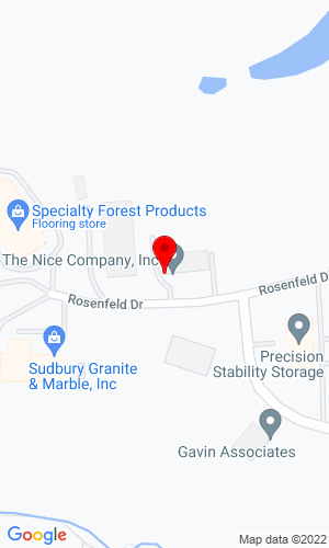 Google Map of The Nice Company 9 Rosenfeld Drive, Hopedale, MA, 01747