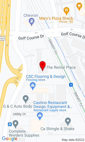 Google Map of The Rental Place 5100 Commerce Blvd, Rohnert Park, CA, 94928