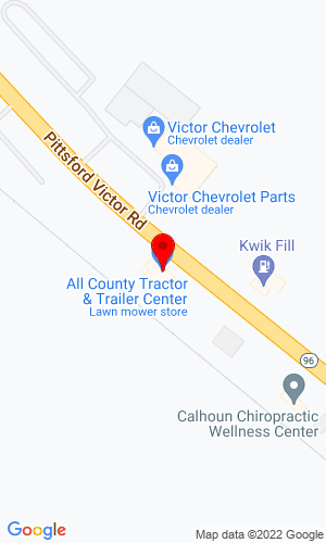 Google Map of The Trailer Center 7199 Victor Pittsford Rd., Victor, NY, 14564,