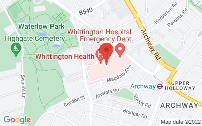 Map of  Islington, LONDON