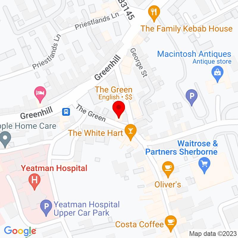 Google Map of The Green Restaurant, Sherborne