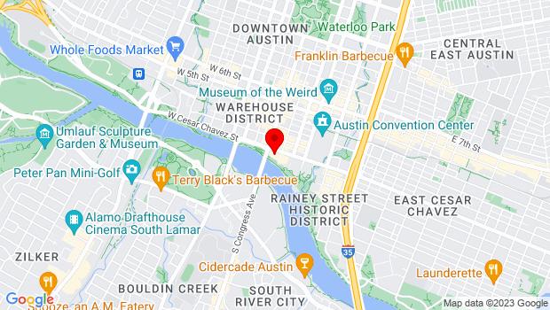 Google Map of The LINE Austin Hotel, Austin, TX 78701