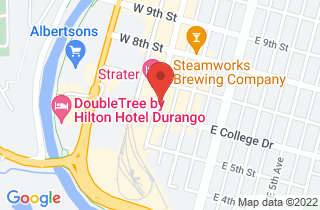 Google map of The San Juan Angler in downtown Durango, CO