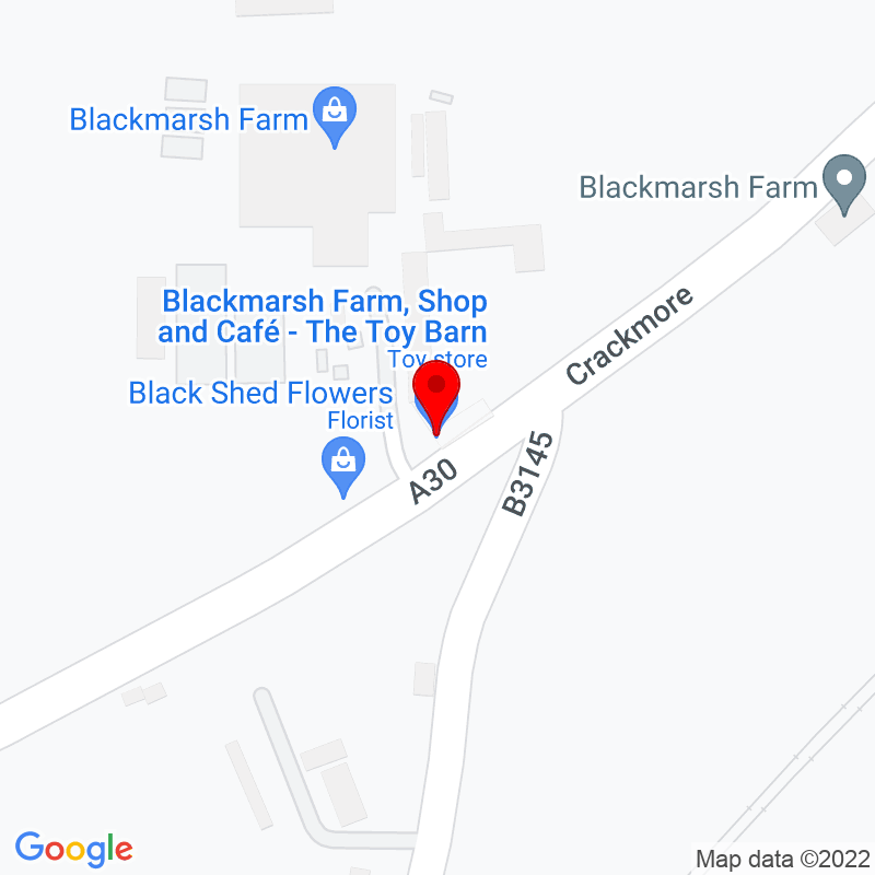 Google Map of The Toy Barn, Blackmarsh Farm, Sherborne, DT9 4JX