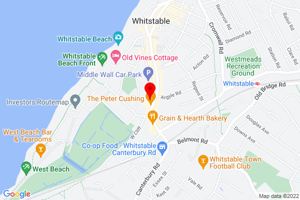 Google Map of The Umbrella Cafe, Whitstable