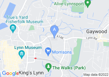 Map for College of West Anglia, King's Lynn