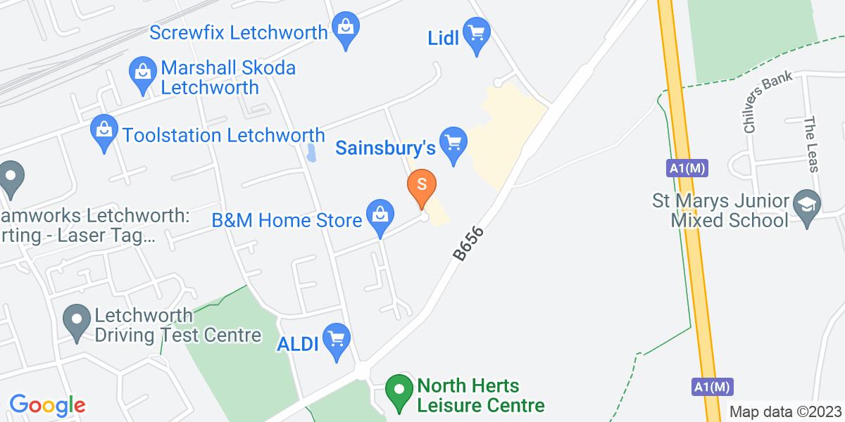Google Map of Third Avenue Letchworth SG6 2HX