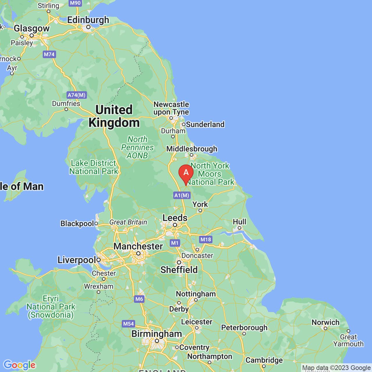 Thirsk, England Map
