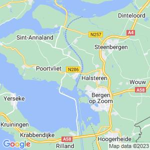 Werkgebied van onze bestrijder in Tholen