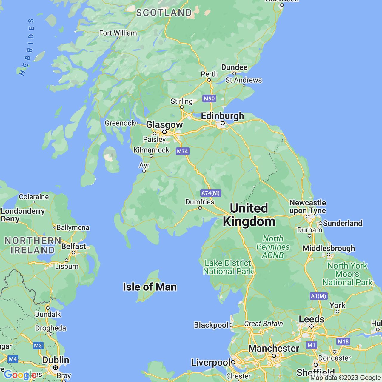 Thornhill, Scotland Map