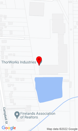 Google Map of Thorworks Industries, Inc. 2520 South Campbell Street, Sandusky, OH, 44870,