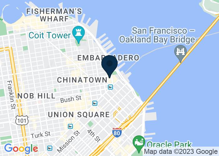 Map of Three Embarcadero Center, San Francisco, CA, United States