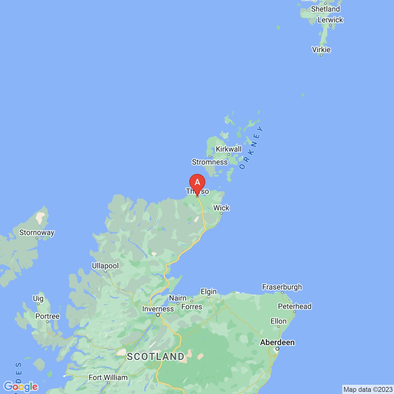 Thurso, Scotland Map