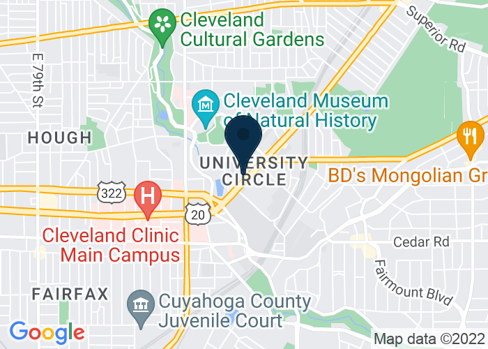 Map of Thwing Center, Cleveland, OH, United States