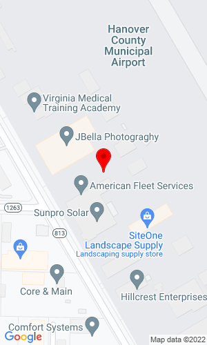 Google Map of Tiger Equipment Co., Inc. 11114 Airpark Road, Ashland, VA, 23005