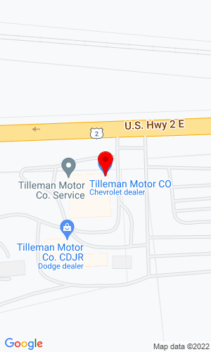 Google Map of Tilleman Motor Co. 4514 Highway 2 West, Havre, MT, 59501,