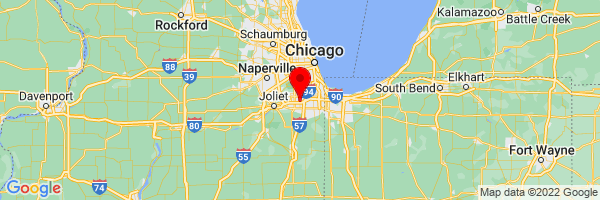 Google Map of Tinley Park, IL