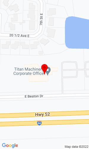 Google Map of Titan Machinery Inc 644 East Beaton Drive, West Fargo, ND, 58104