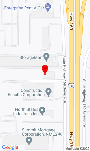 Google Map of Top Notch Equipment, Inc. 5505 Highway 169 North, Plymouth, MN, 55442
