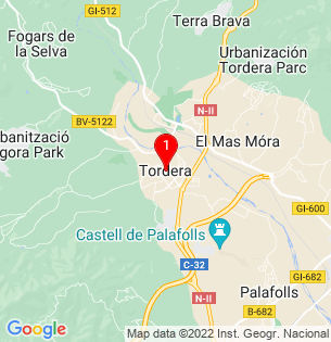 Google Map of Tordera, Barcelona, Spain