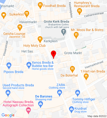Google Map of Torenstraat 6 4811 XX Breda