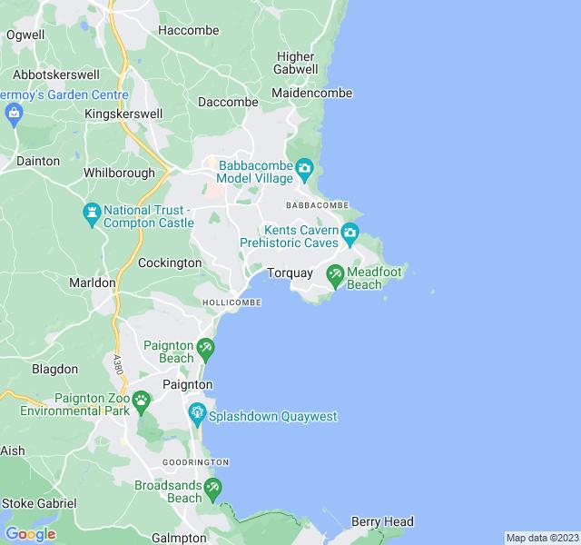 Website Designer Torquay Google map of location