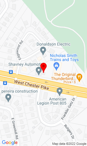 Google Map of Town Square Rental, Inc 2357 West Chester Pike, Broomall, PA, 19008