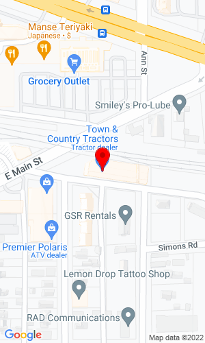 Google Map of Town and Country Tractors, Inc. 449 Railroad Avenue, Monroe, WA, 98272