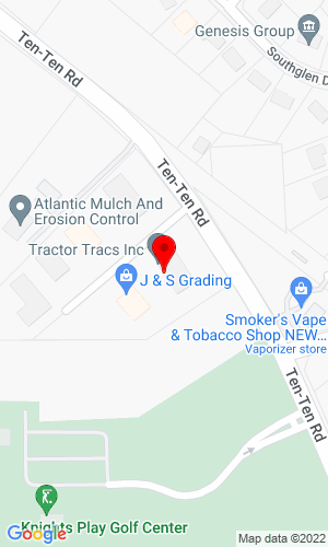 Google Map of Tractor Tracs Inc. 5505 Caterpillar Drive, Apex, NC, 27539