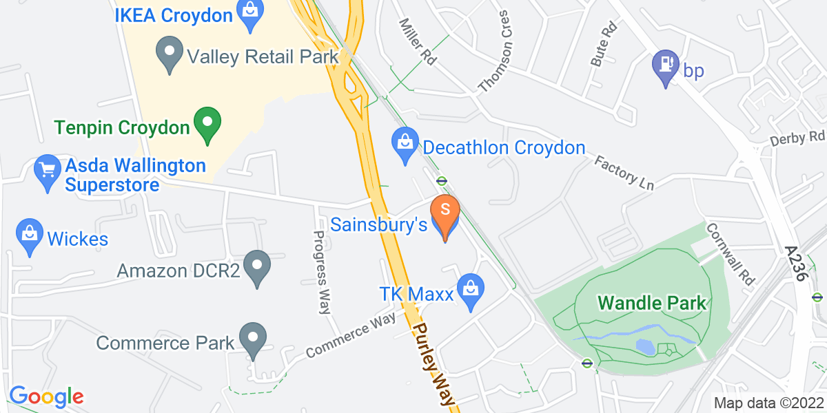 Google Map of Trafalgar Way Croydon CR0 4XT