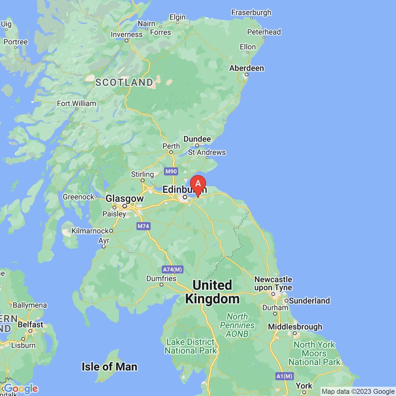 Tranent, Scotland Map