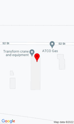 Google Map of Transform Crane & Equipment 5003 40 Avenue, Lloydminster, SK, S9V 2B7