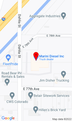 Google Map of Transwest Trailers, LLC 7740 Dahlia Street, Commerce City, CO, 80022