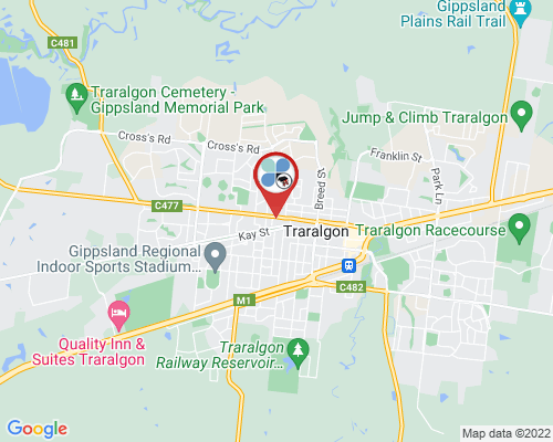Traralgon google map