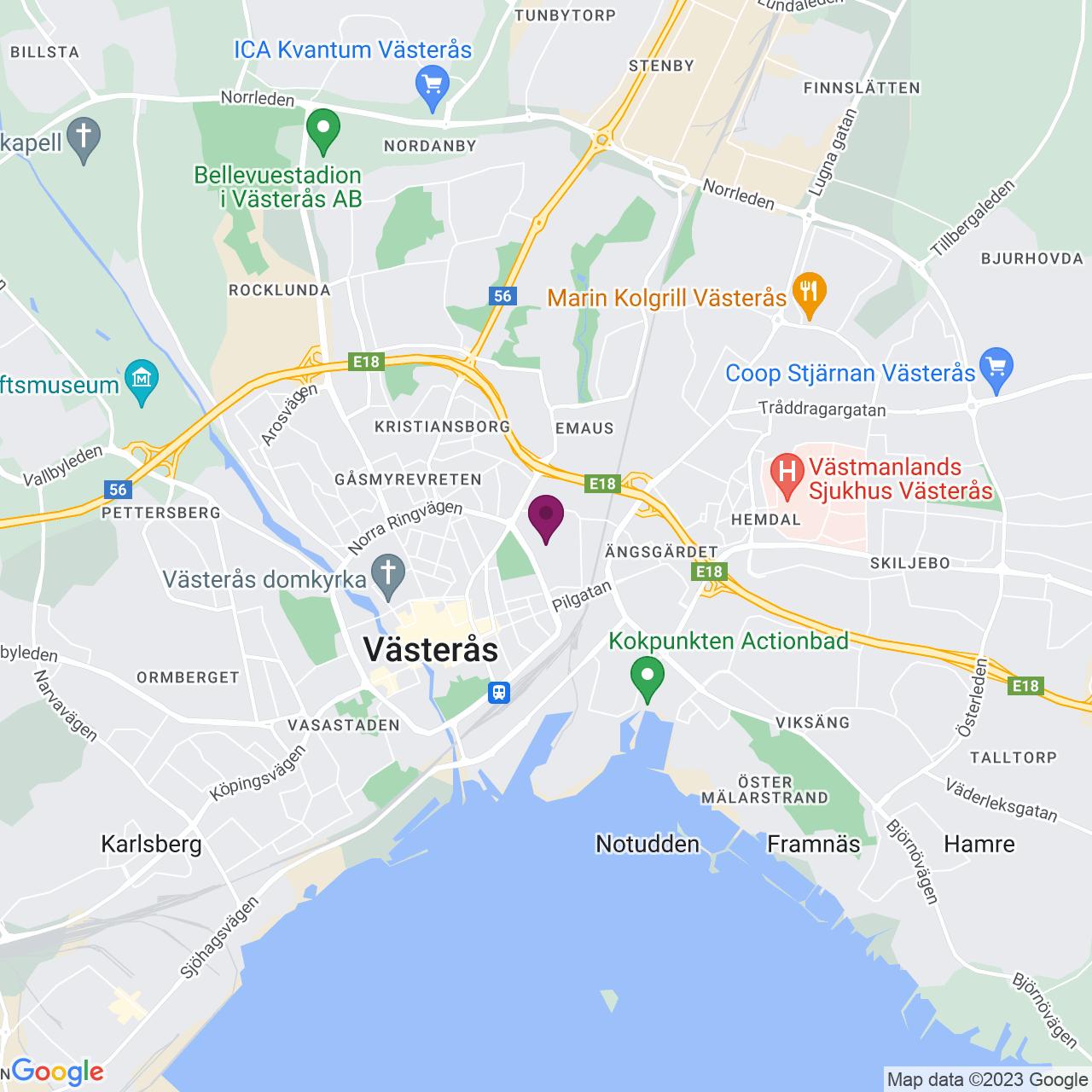 Kort över Trefasgatan 1