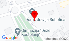Google Map of Trg žrtava fašizma 16, Subotica