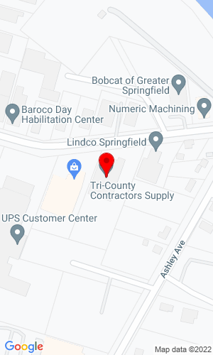 Google Map of Tri-County Contractors Supply Inc. 154 Wayside Avenue, West Springfield, MA, 01089