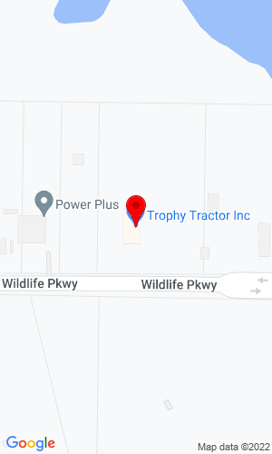 Google Map of Trophy Tractor, Inc. 602 Wildlife Blvd., Grand Prairie, TX, 75050
