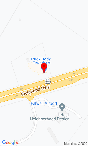 Google Map of Truck Body Company LLC 4401 Richmond Hwy, Lynchburg, VA, 24506,