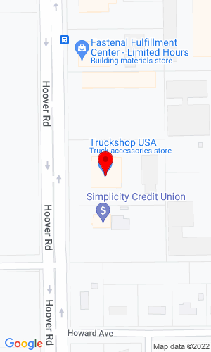 Google Map of Truck Shop USA 3017B Hoover Road, Stevens Point, WI, 54481