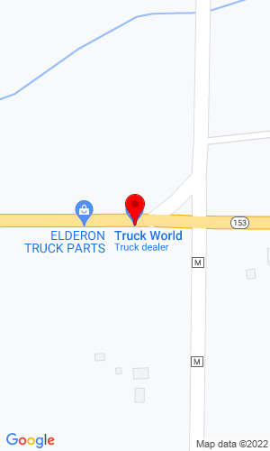 Google Map of Truck World Inc W. 18601 St. Hwy 153, Wittenberg, WI, 54499