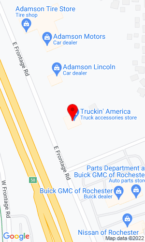 Google Map of Truckin' America 4720 Highway 52 N, Rochester, MN, 55901