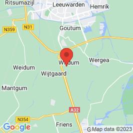 Google map of Transformatorhuisje, Wirdum