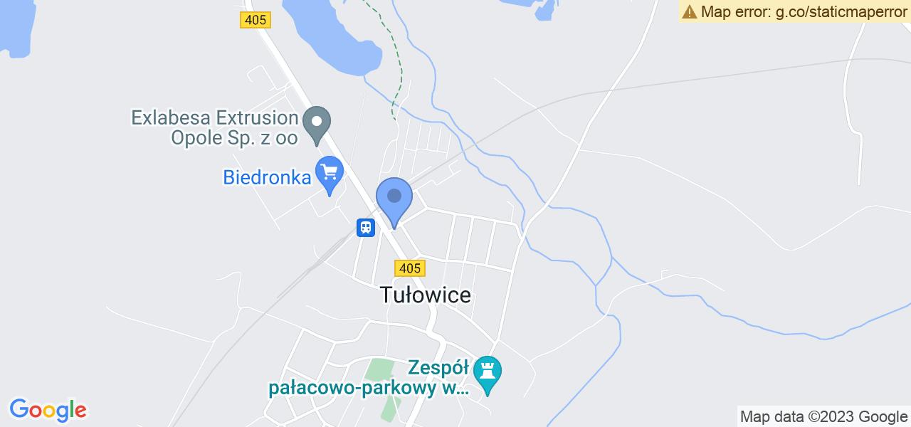 Jedna z ulic w Tułowicach – Ceramiczna i mapa dostępnych punktów wysyłki uszkodzonej turbiny do autoryzowanego serwisu regeneracji