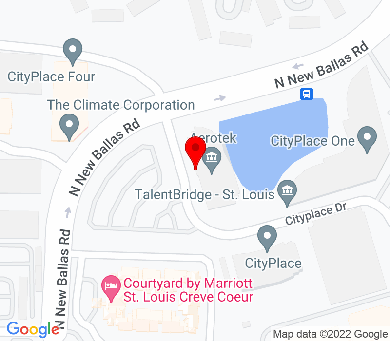 Click to view Google maps office address Two CityPlace Drive, Suite 200, Creve Coeur, MO 63141