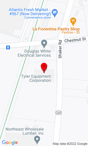 Google Map of Tyler Equipment Corporation 251 Shaker Road, East Longmeadow, MA, 01028