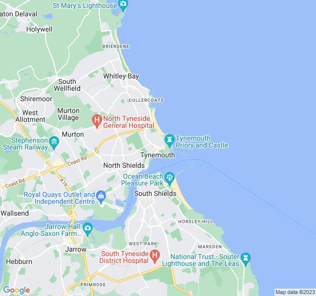 Website Designer Tynemouth Google map of location