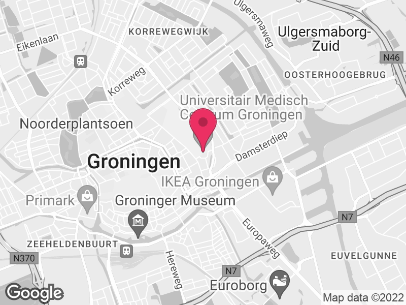 Google Map of UMCG Groningen Postbus 30001 9700 RB Groningen
