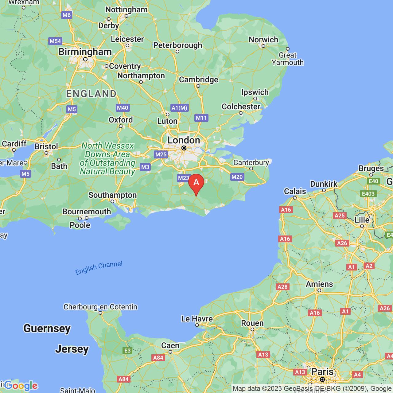 Uckfield, England Map