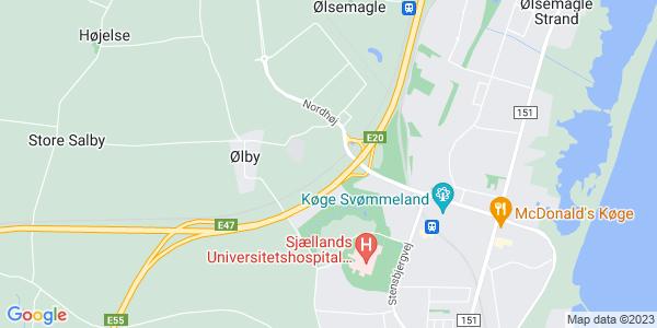 Et kort over Erhvervsakademi Sjælland